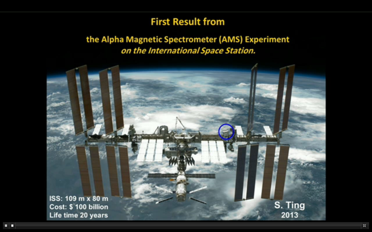 First Result From AMS Experiment