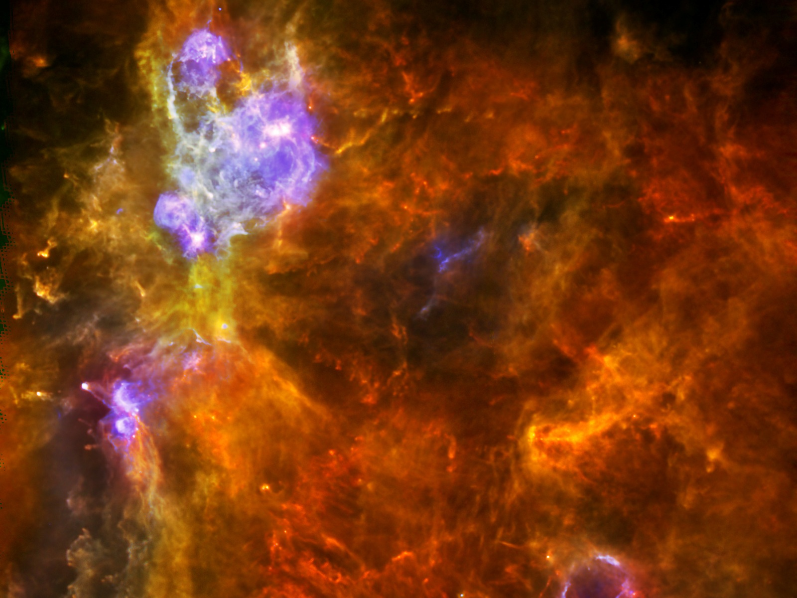 Massive Molecular Cloud Space Wallpaper