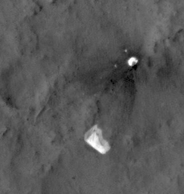 MSL's Parachute Flapping in the Wind
