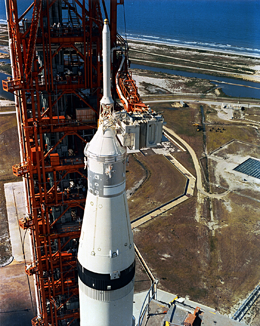 Space History Photo: Saturn V Preparations