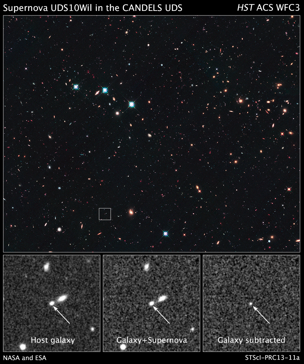Farthest Star Explosion Yet Revealed by Hubble