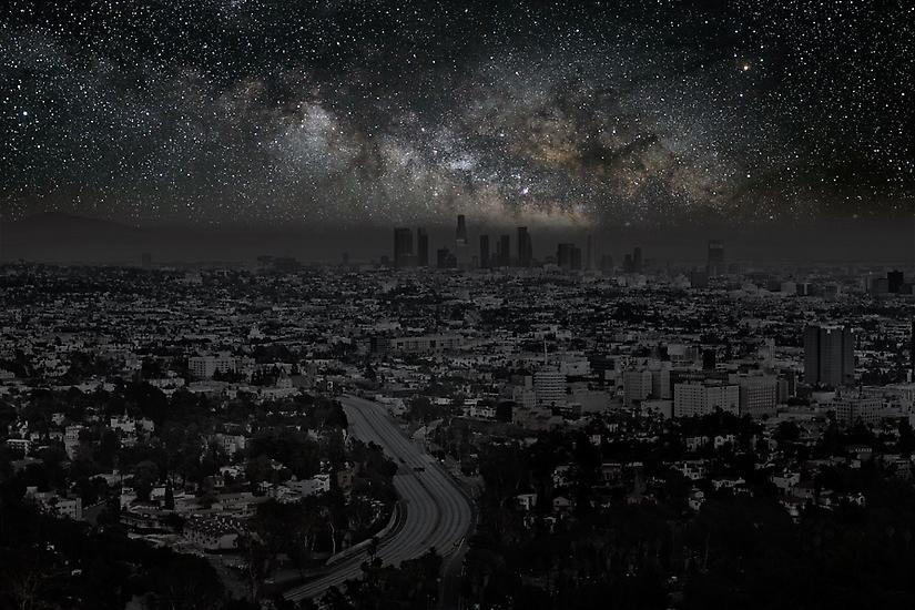 Los Angeles Cityscape, Darkened Cities