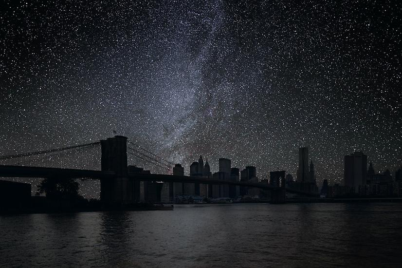Brooklyn Bridge, Darkened Cities