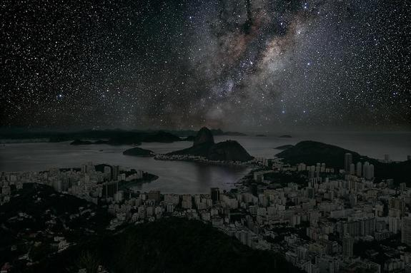 This starscape over Rio de Janeiro was captured in the Atacama Desert in Chile.
