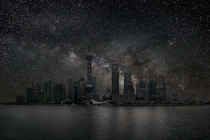 Shanghai Cityscape, Darkened Cities