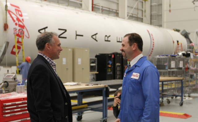 Senator Kaine Tours Wallops Flight Facility