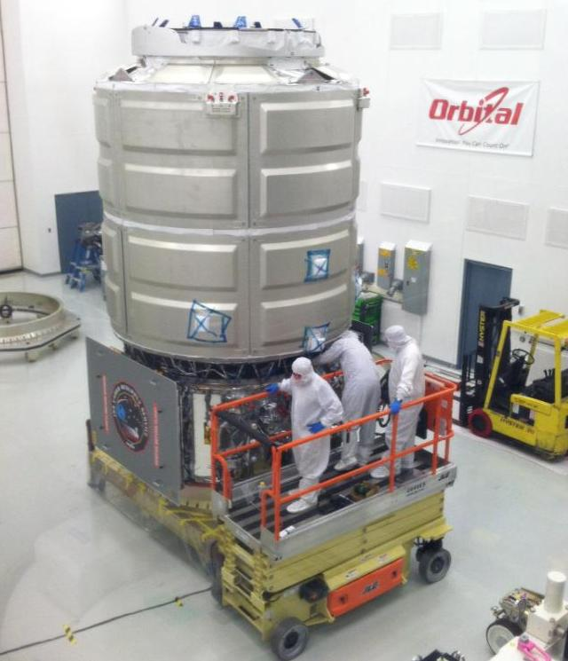 COTS Demo Cygnus Spacecraft Mated at Wallops