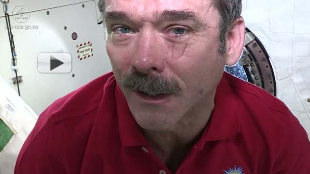 How Astronauts Cry In Space (Video)