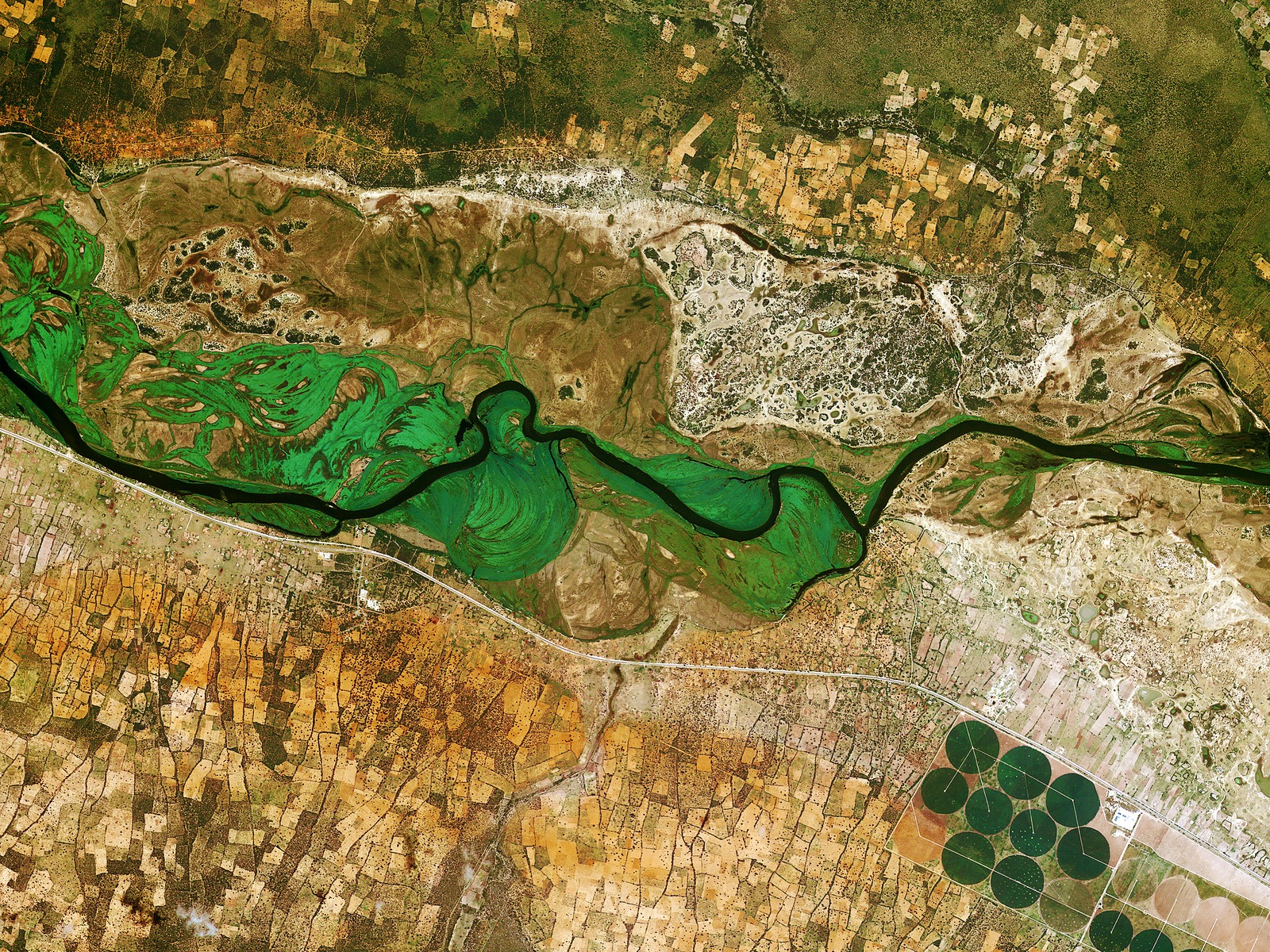 Earth From Space: Okavango Space Wallpaper