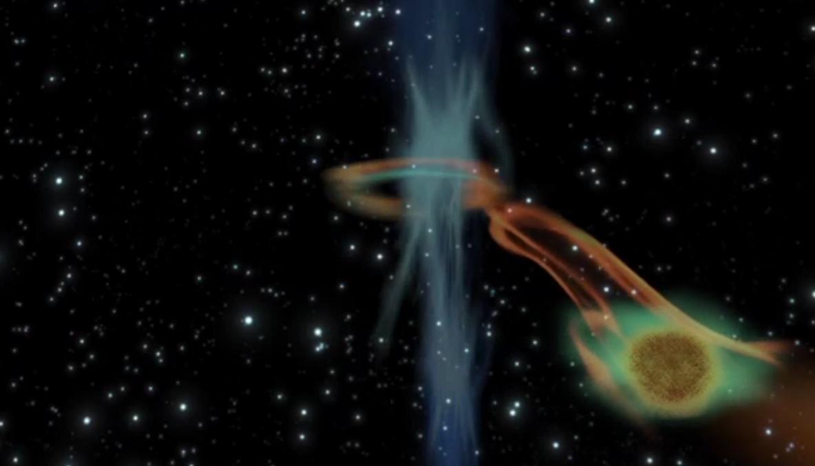 Black Hole Caught Snacking on 'Super Jupiter' Planet