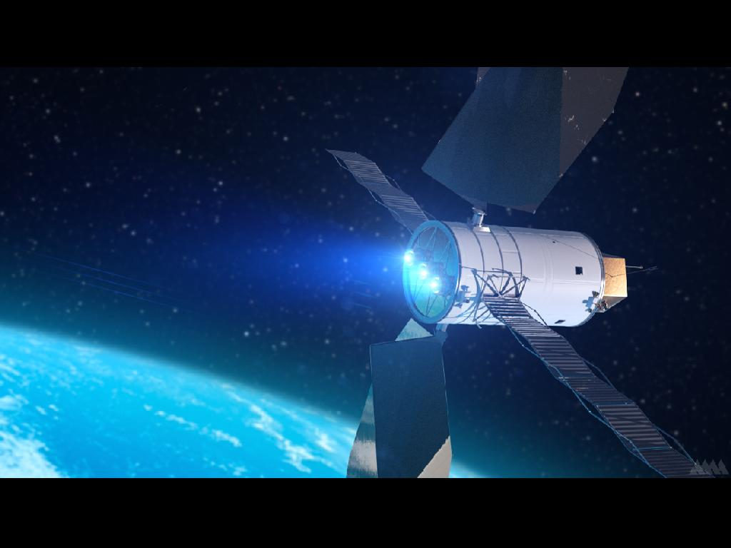 Artist's Concept of a Solar Electric Propulsion System