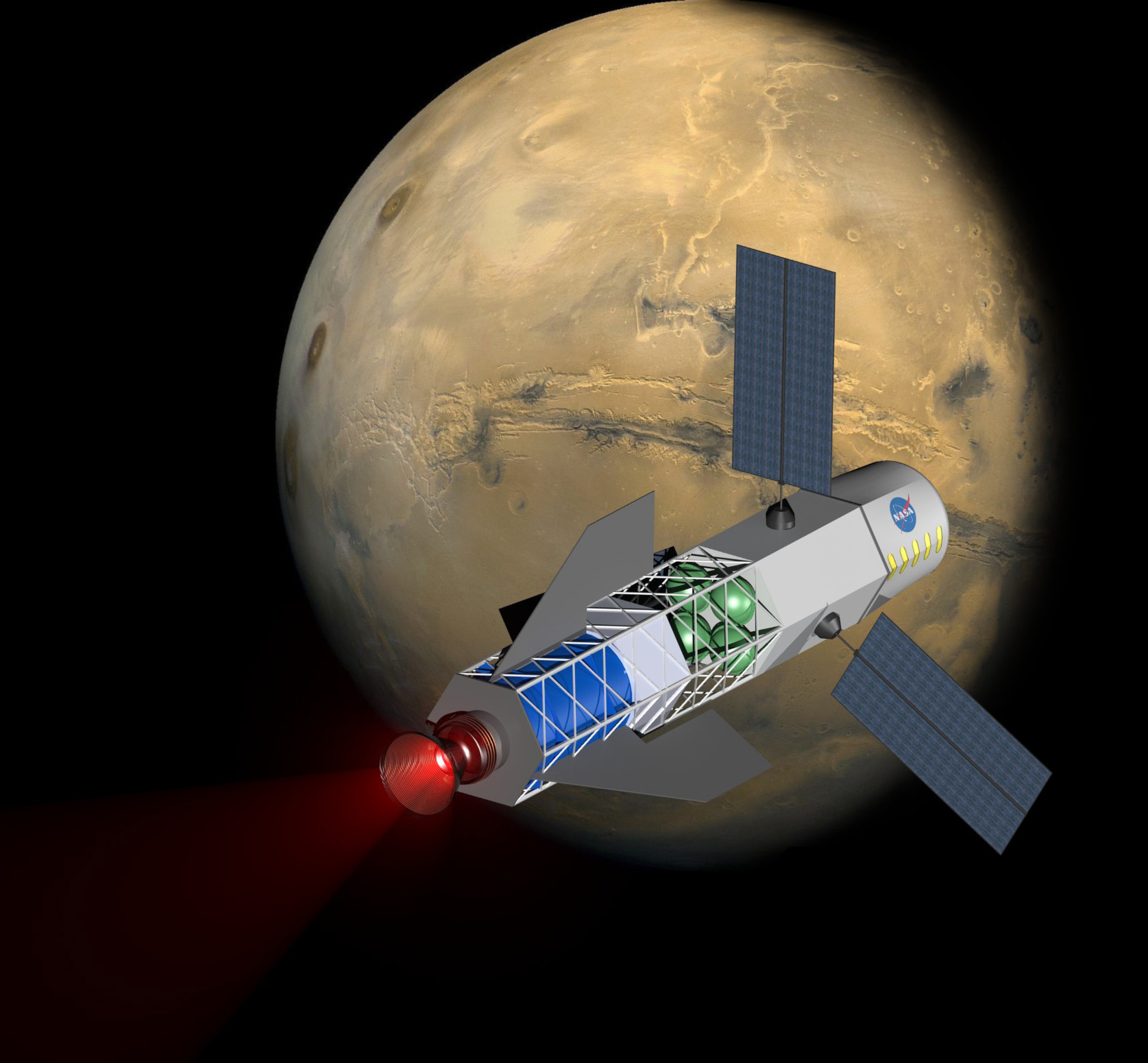 Fusion rocket to Mars