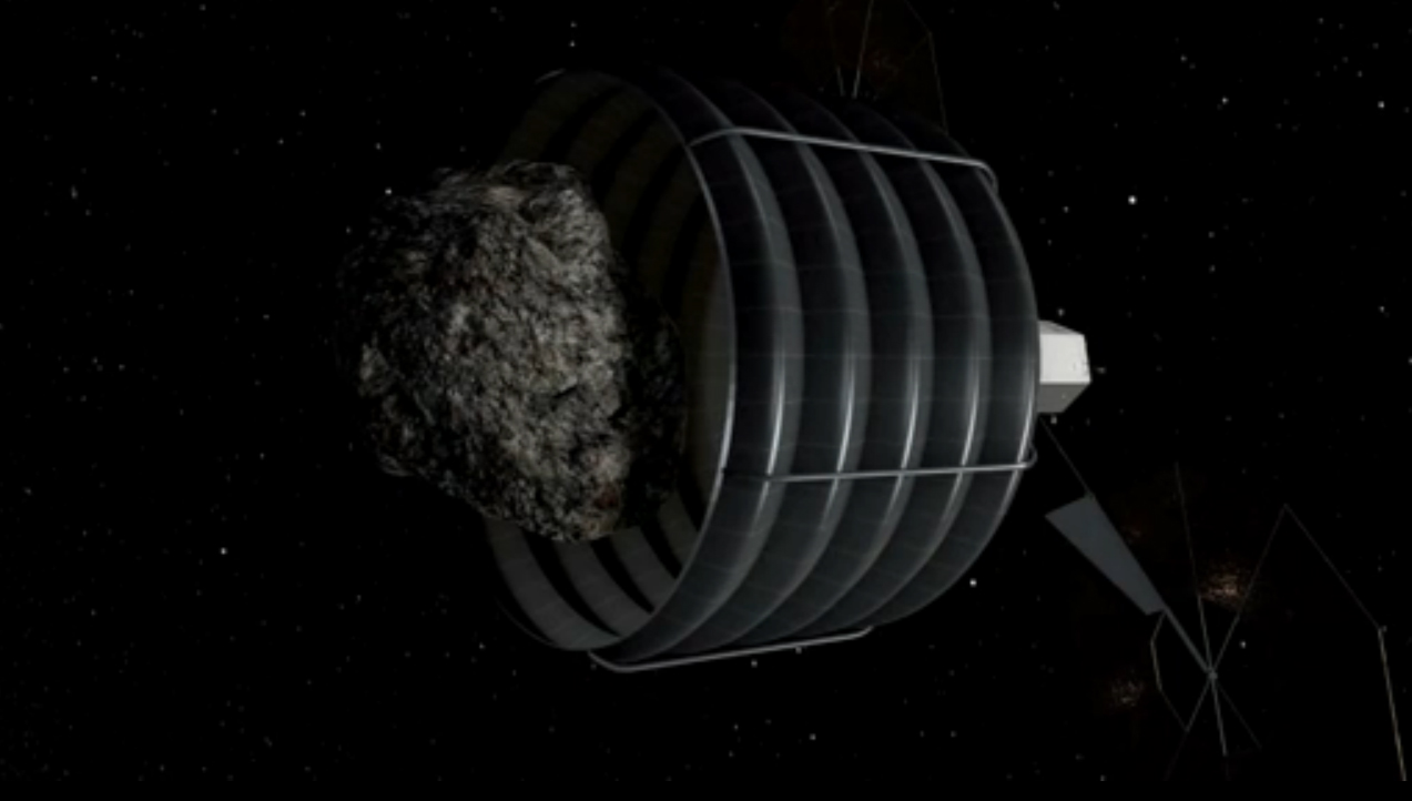 Swallowing an Asteroid During Asteroid Capture Mission