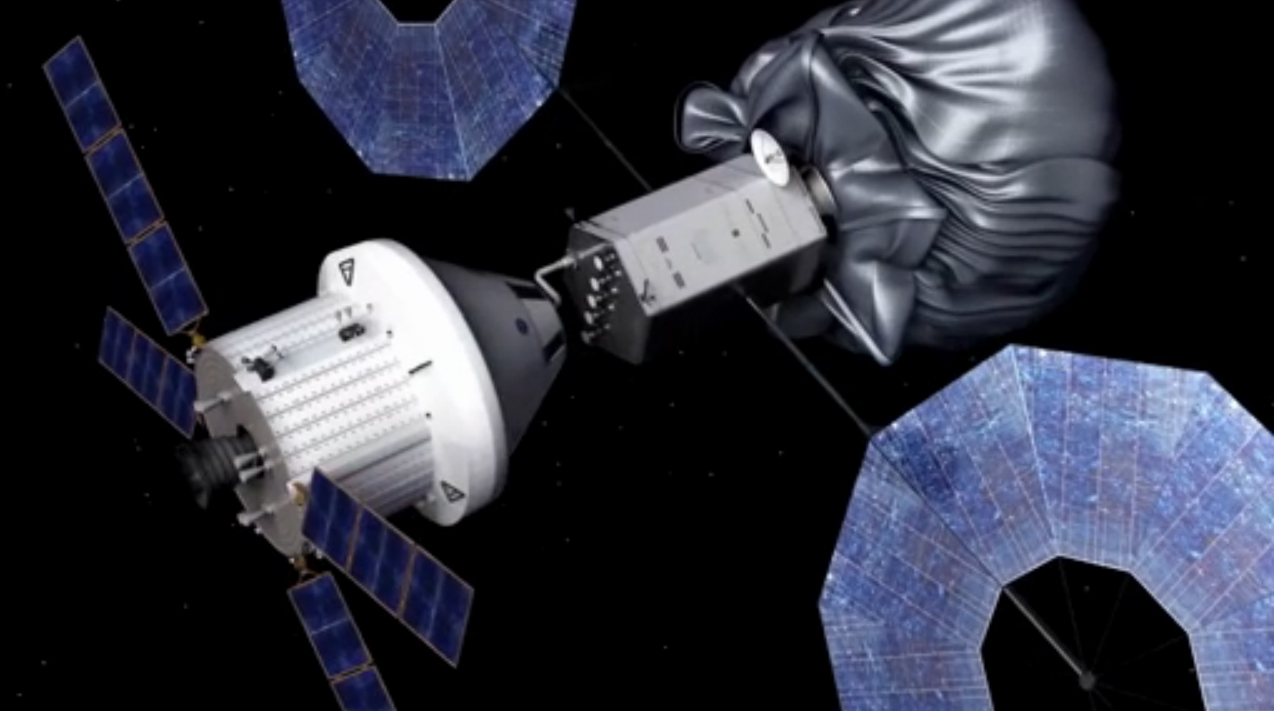 Asteroid Capture Mission Crew Docking