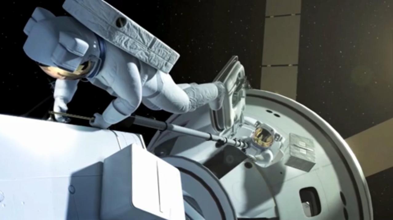 Asteroid Capture Mission Spacewalk