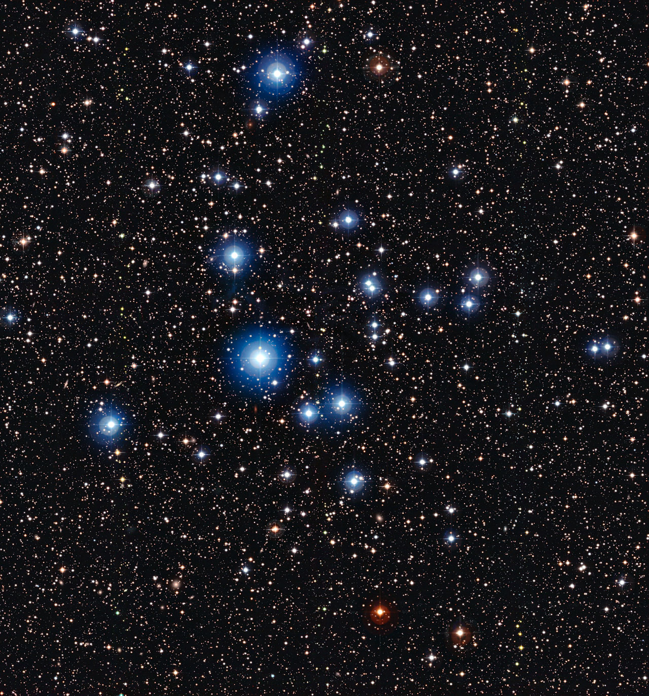 Young Blue Stars Shine in Cosmic Photo