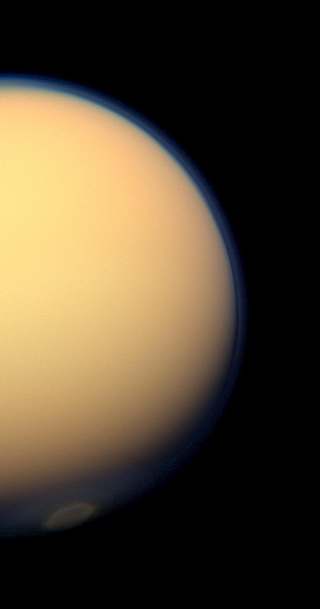 Titan polar vortex