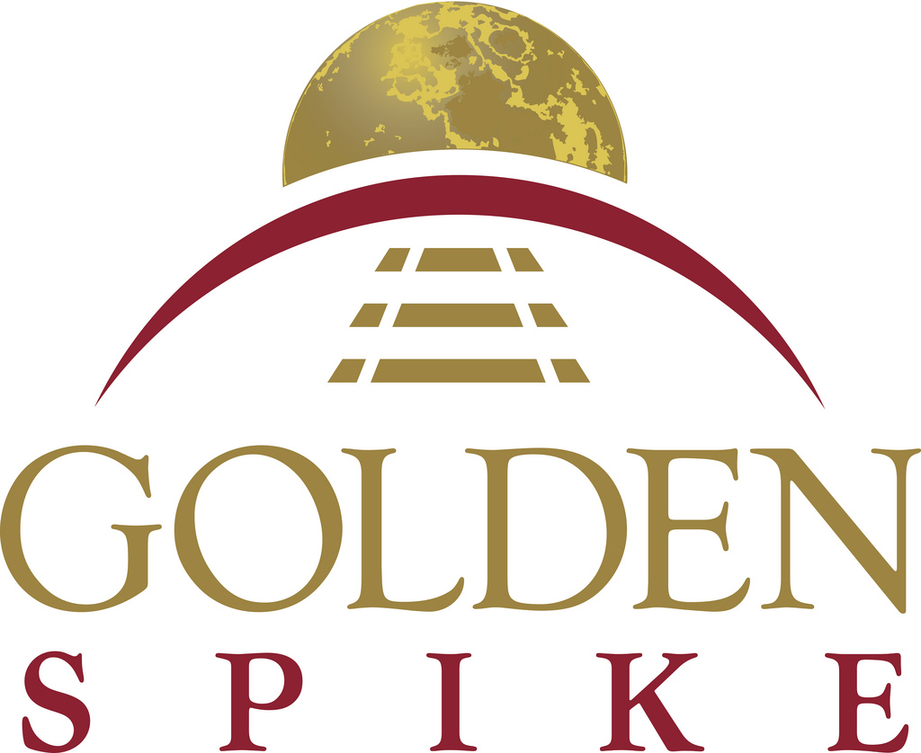 Golden Spike Podium Logo Poster