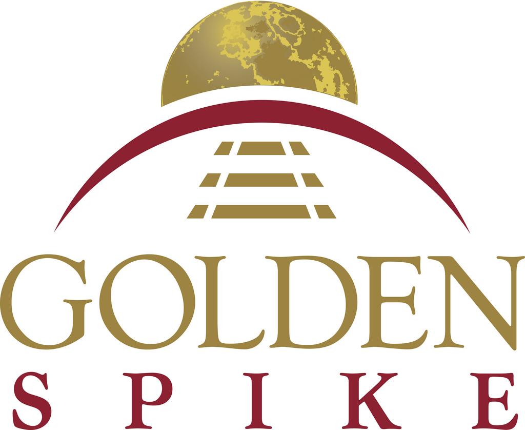 Golden Spike Podium Logo Poster
