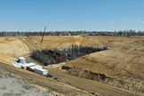 Construction of the Vostochny Space Launch Centre. Image released April 12, 2013.