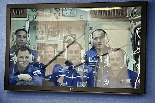 ISS Crew Video Linkup With President Putin