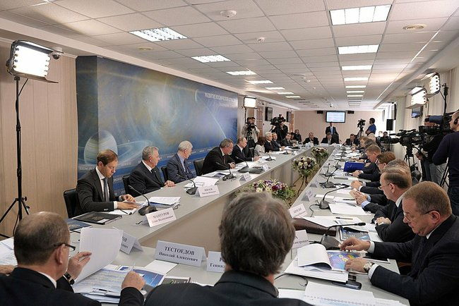 Meeting on Developing Russia's Space Sector