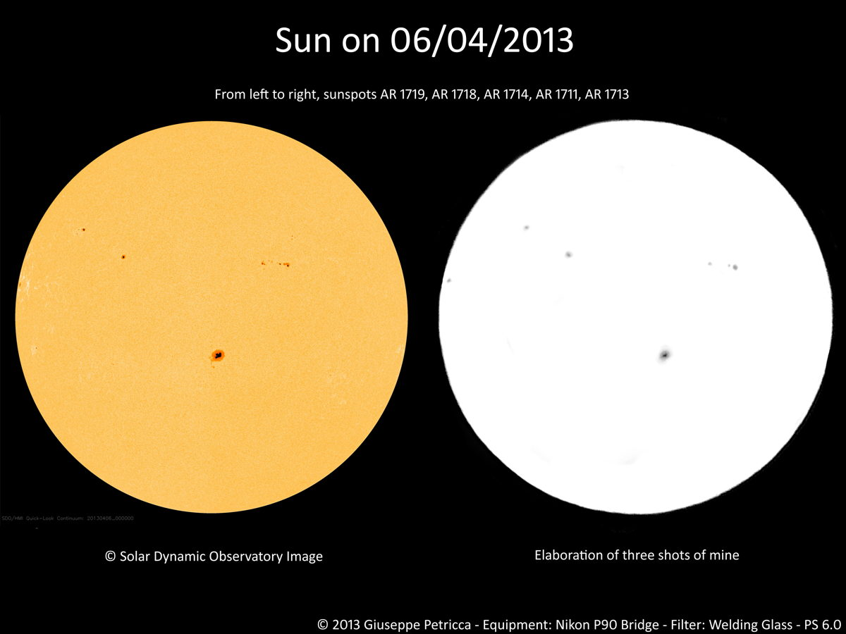 Sunspots of April 6, 2013