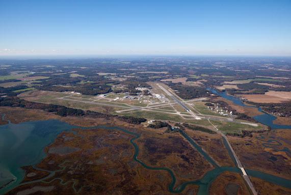 NASA's Wallops Flight Facility from the Air