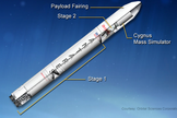 The design of the Antares A-ONE rocket. Liftoff for the rocket is scheduled for April 17, 2013. Image released April 11, 2013.