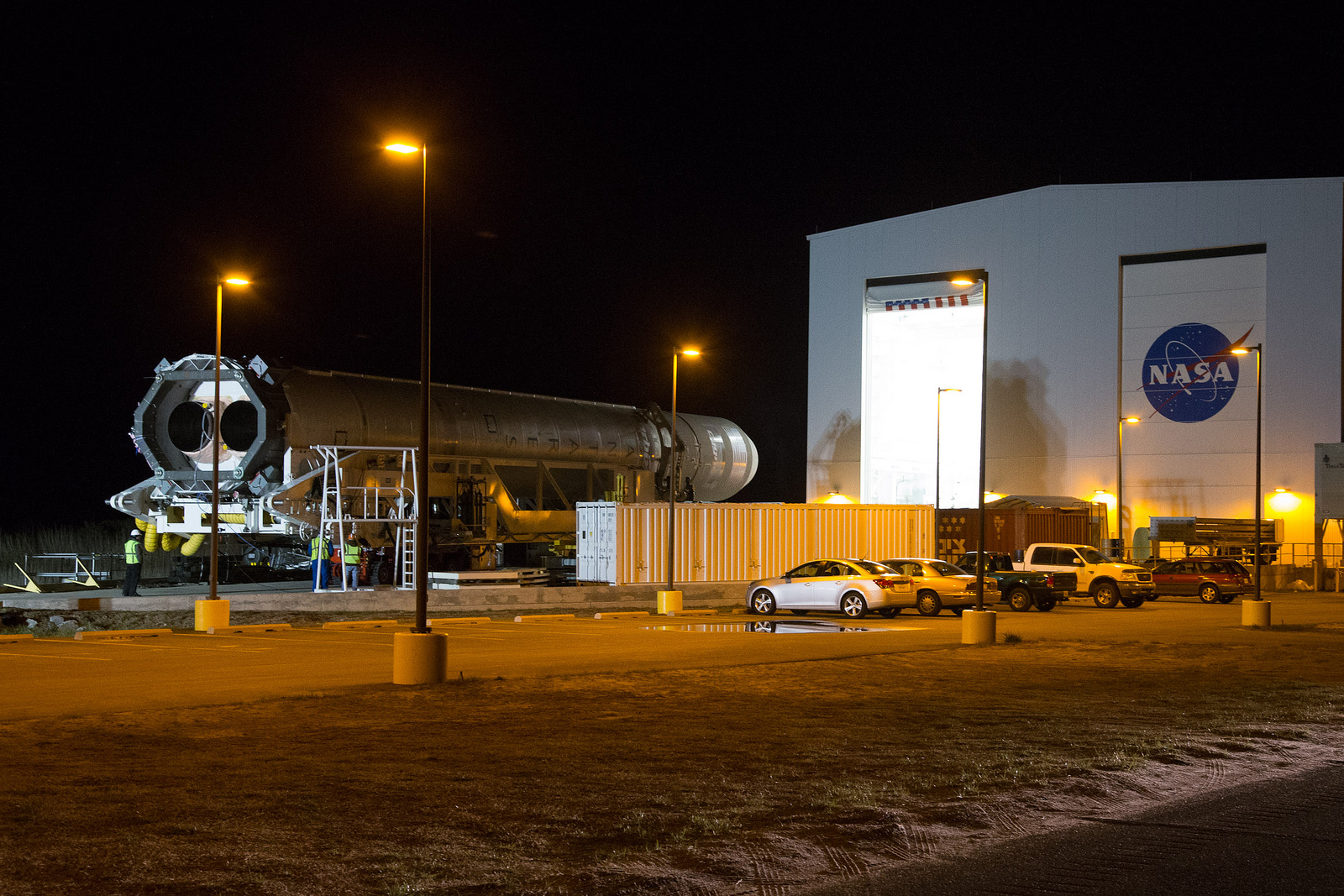 Antares Rocket Rolls Out