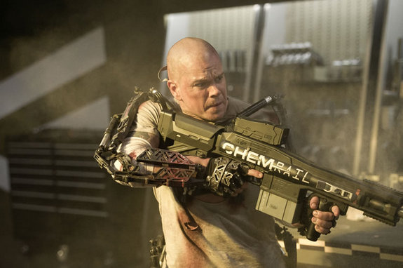 Elysium, new movie featuring a dystopian future-Earth, premieres this year in August.