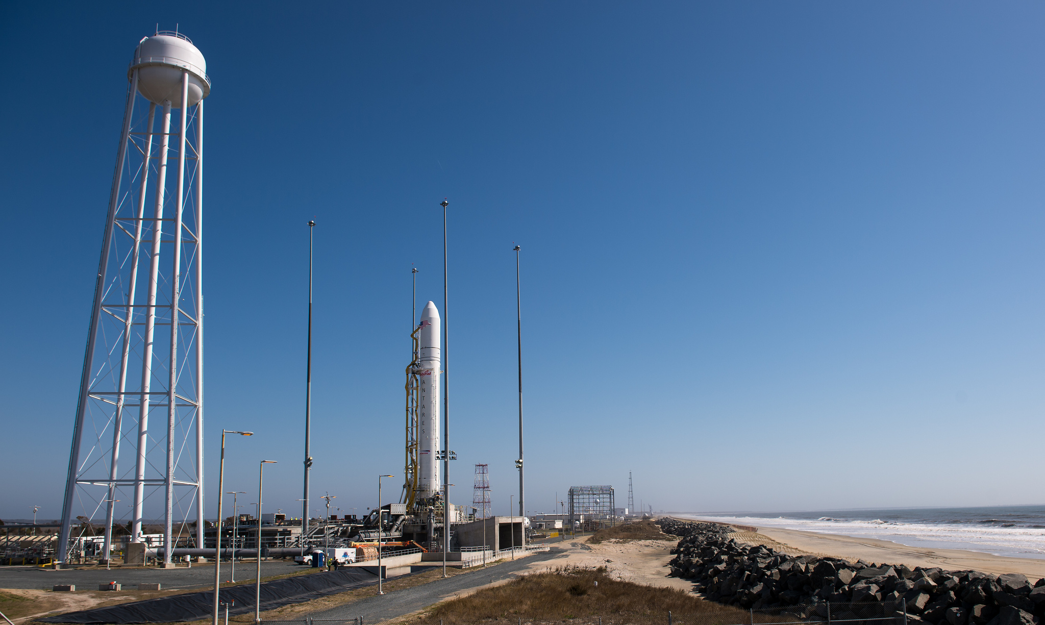 Antares Rocket on Eve of 1st Launch
