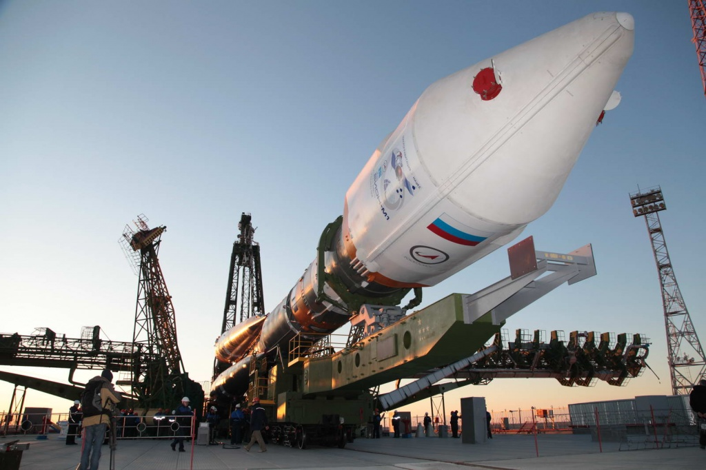 Soyuz Rocket with Bion-M1: Launch Pad