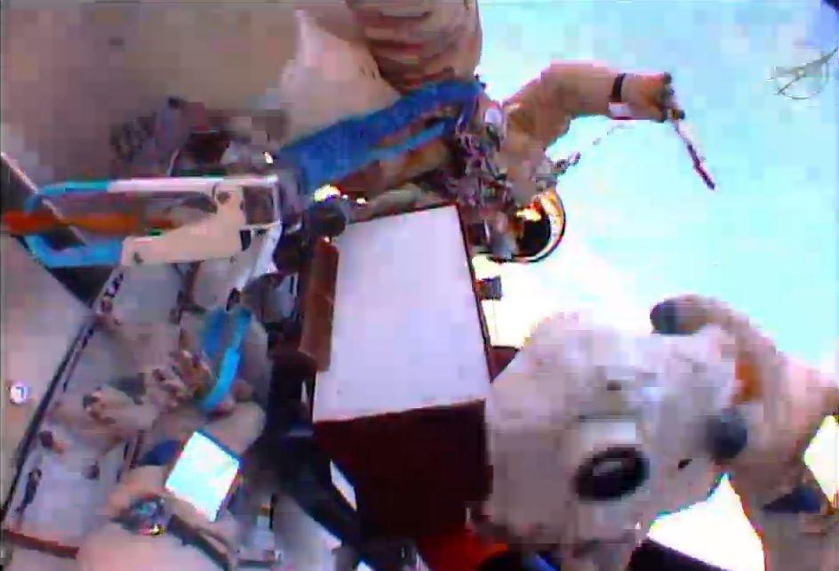 Taking a Photo During the Spacewalk