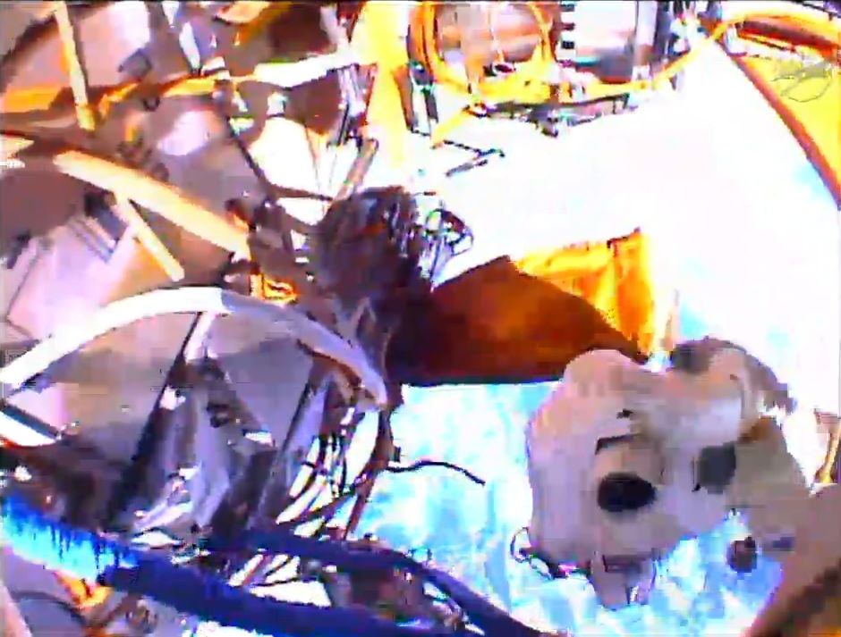 Photographing Work During Spacewalk