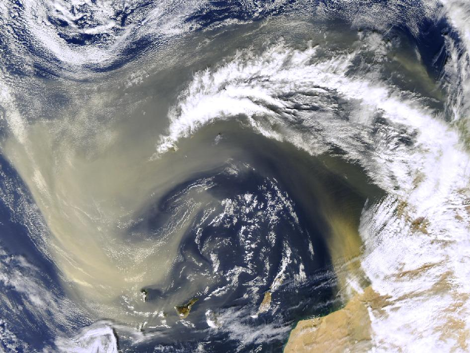 Saharan Dust Off Canary Islands