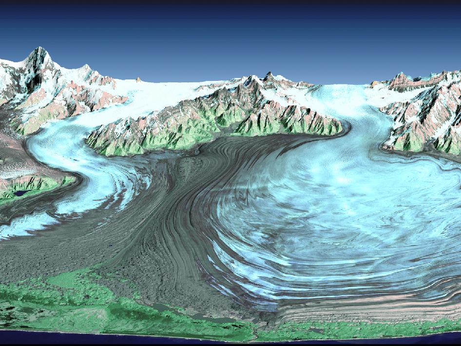 Malaspina Glacier in Southeastern Alaska