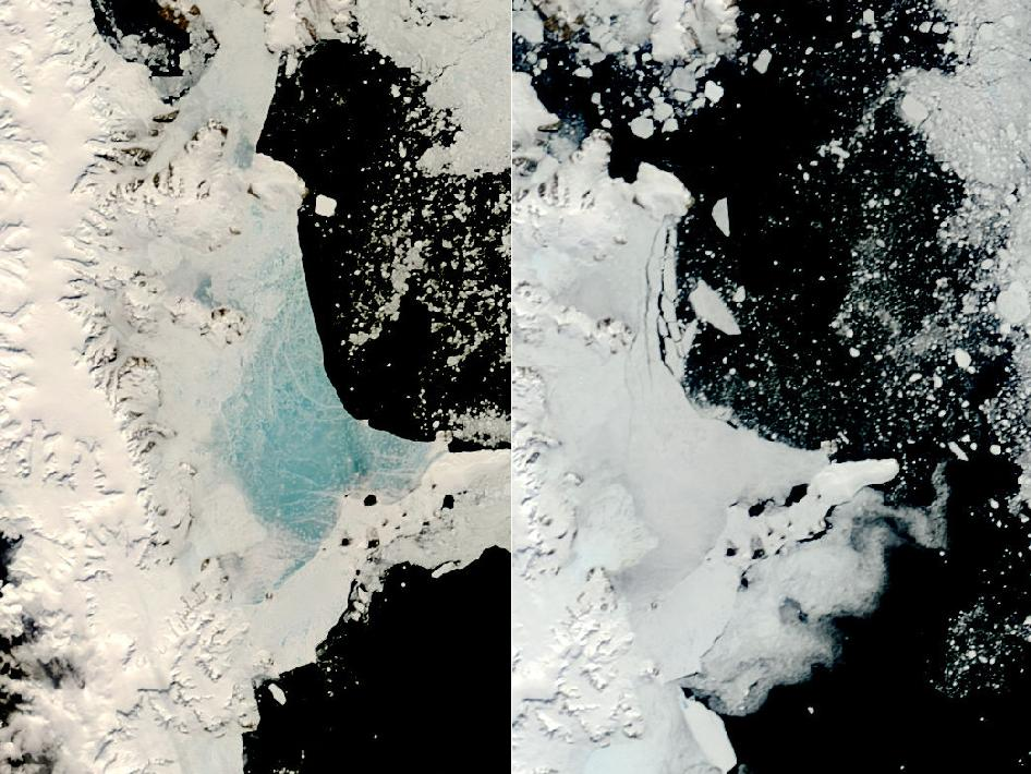 Changing Sea Ice Along Antarctic Peninsula