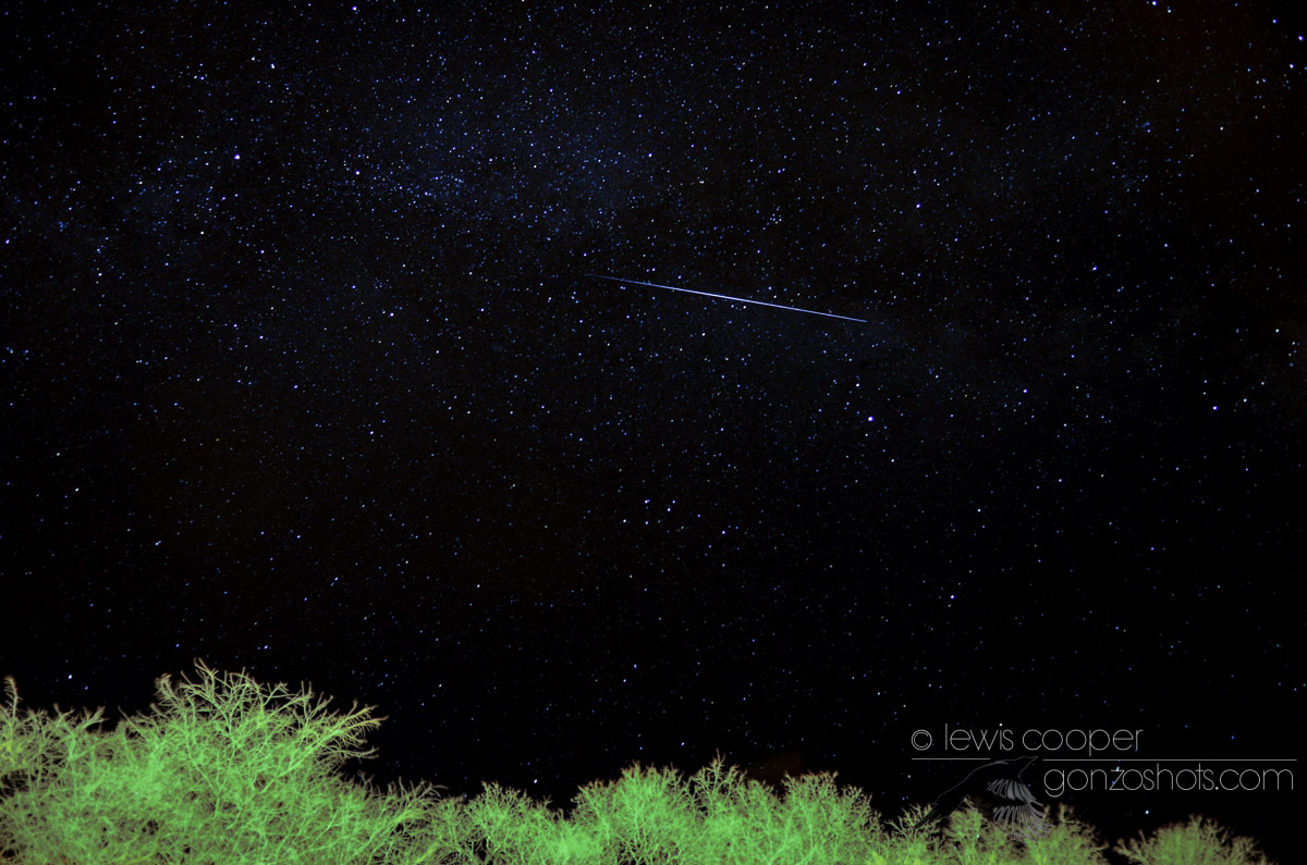 Lyrid Meteor Over Myton, Utah