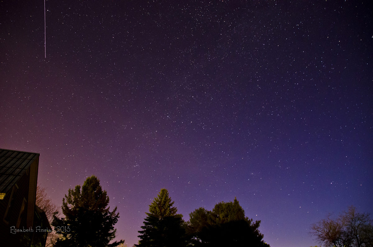 Lyrid Meteor Over Milton, Vermont