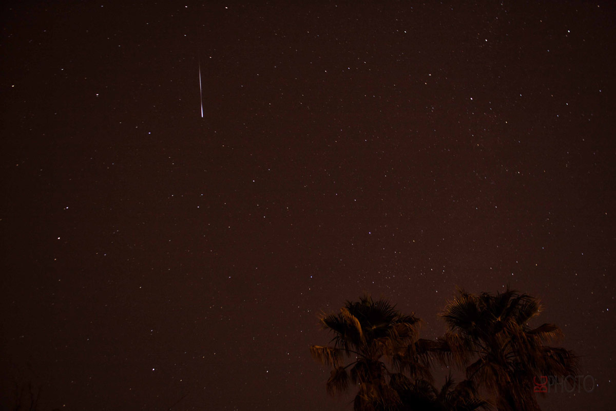 Lyrid Meteor Over Tucson, Arizona