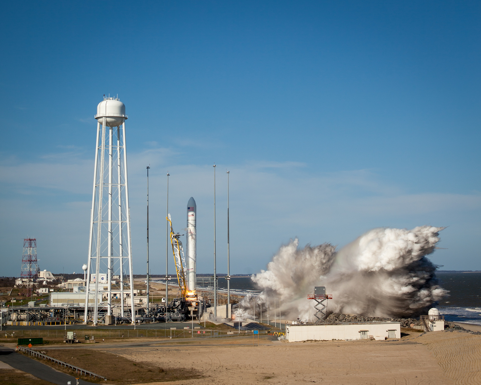 Antares Takes Off from Wallops