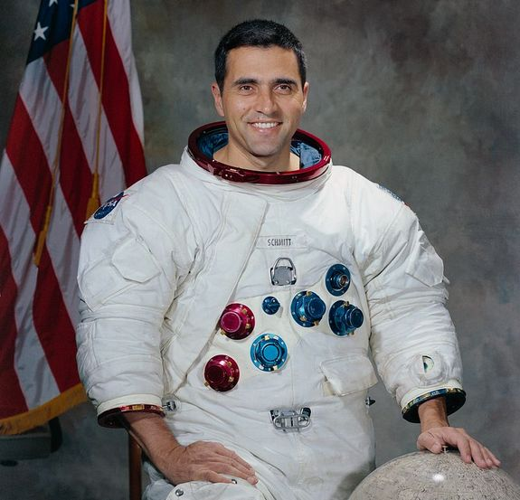 "Harrison ""Jack"" Schmitt was the first trained scientist, rather than a former test pilot, to go to the moon. He collected evidence of volcanic activity during the Apollo 17 mission."