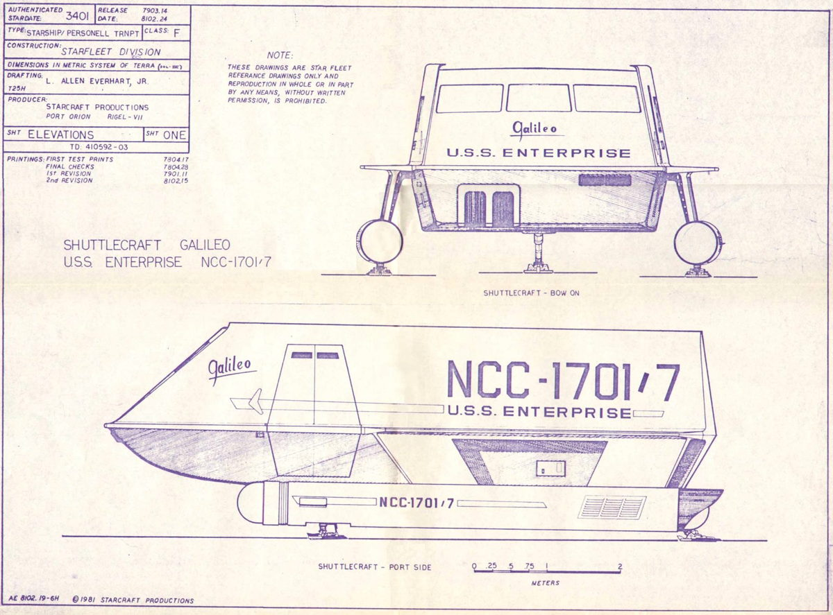 Galileo Shuttlecraft Blueprints