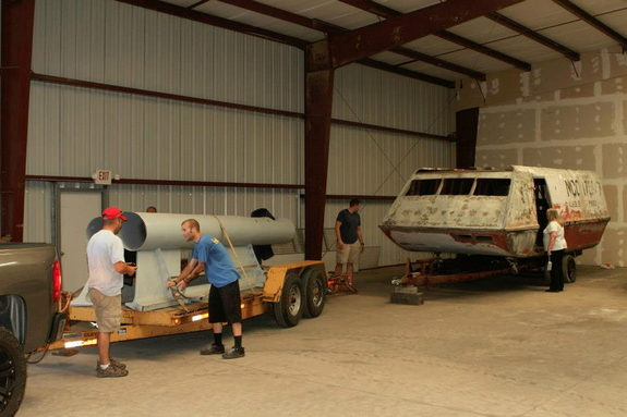 "On July 12, 2012, the ""Star Trek"" Galileo shuttlecraft was moved from former owner Lynn Miller's house to a storage facility in Ohio."