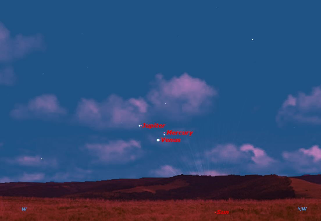 Venus and Mercury in Conjunction, May 2013