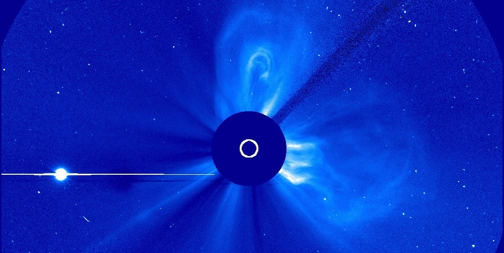 Coronal Mass Ejection Headed Toward Mercury
