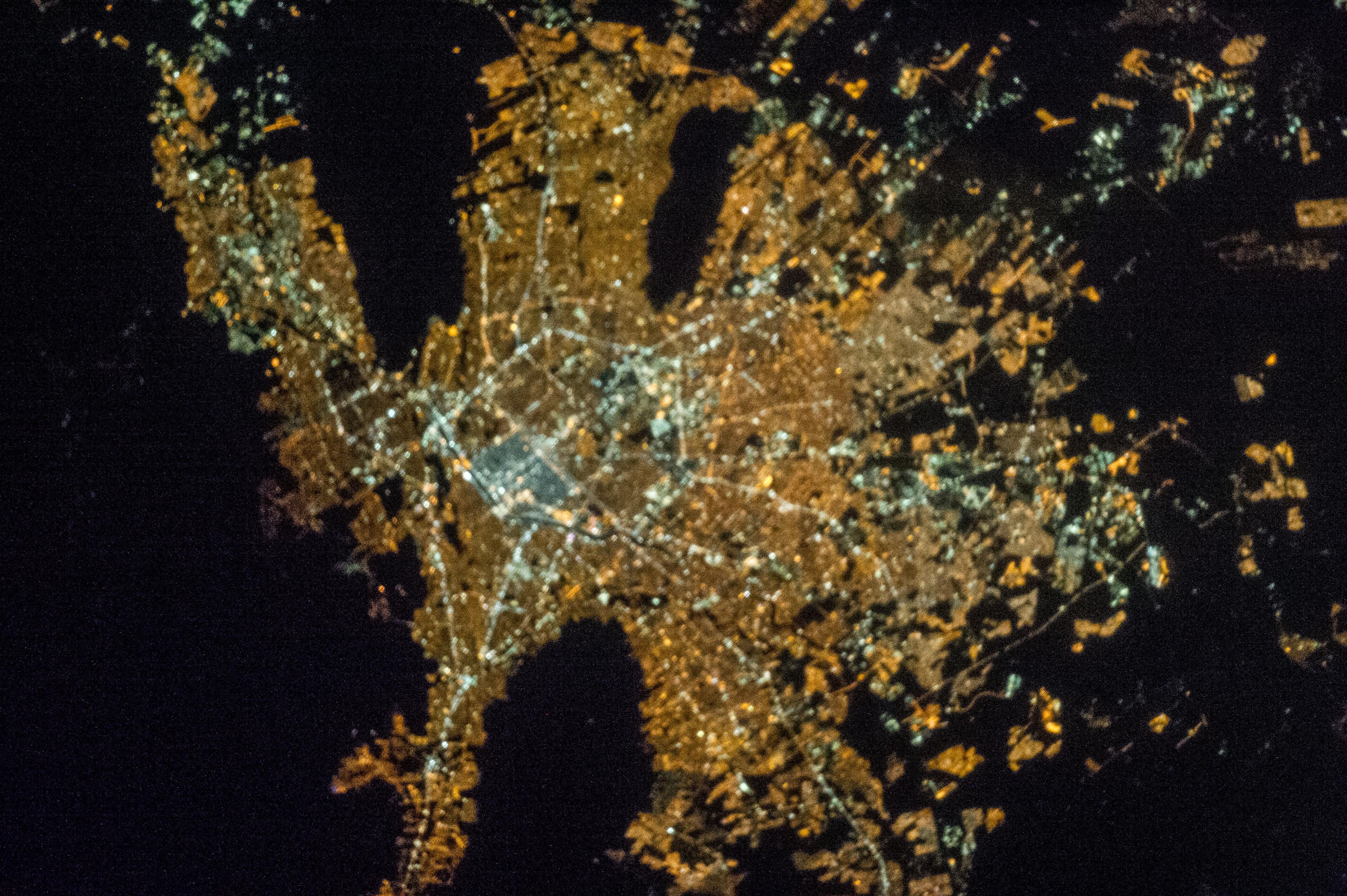 Monterrey, Mexico at Night