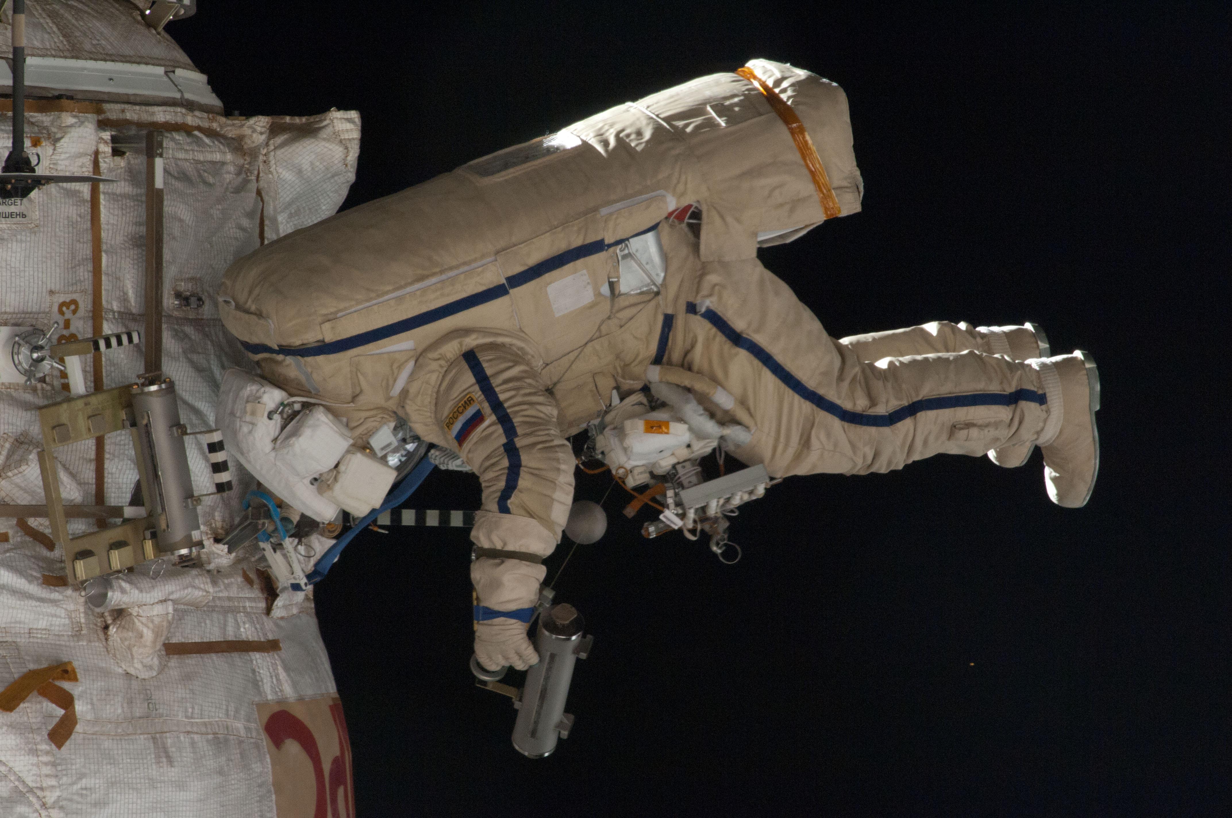 Cosmonauts on Spacewalk