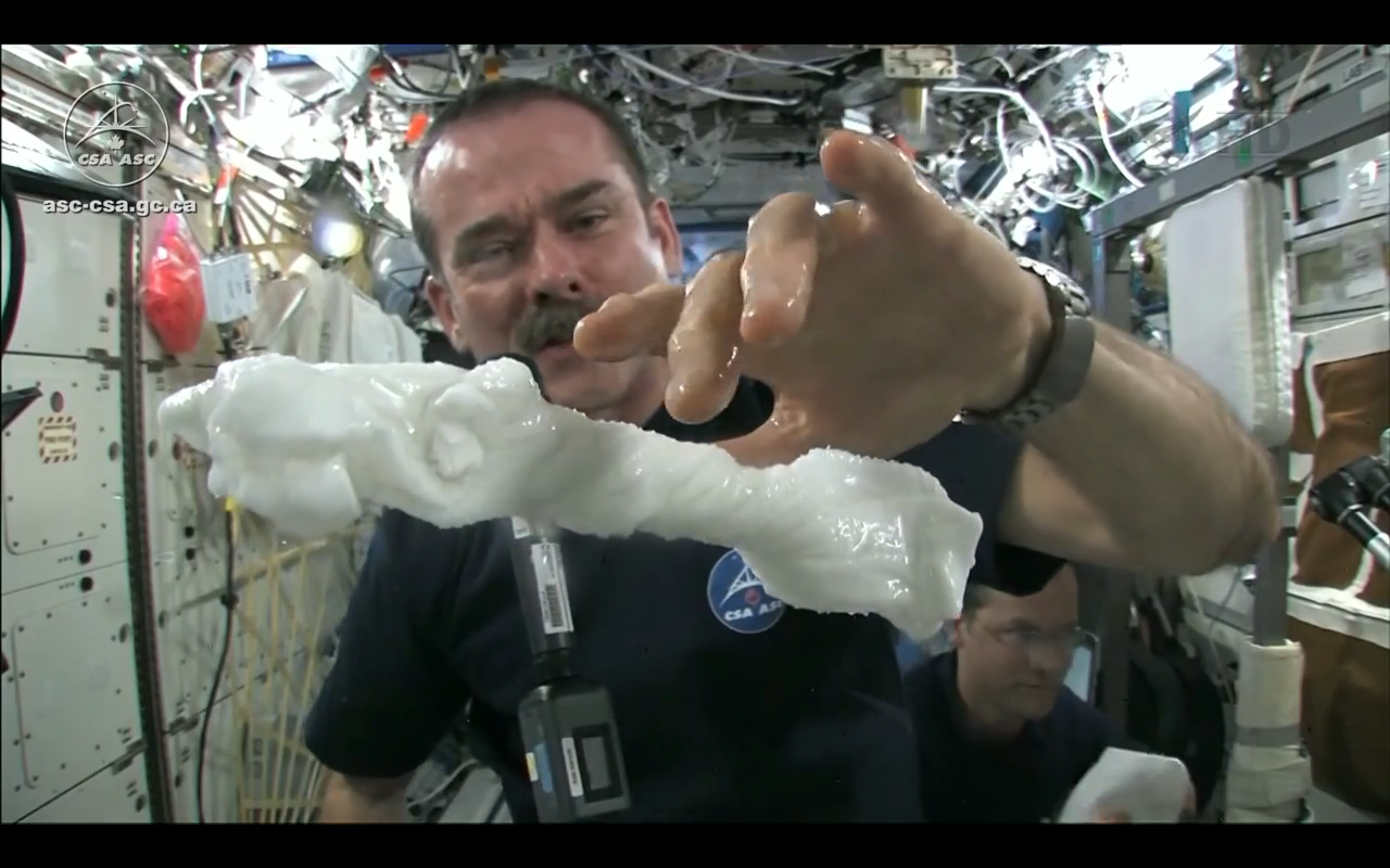 Wring Out a Washcloth in Space